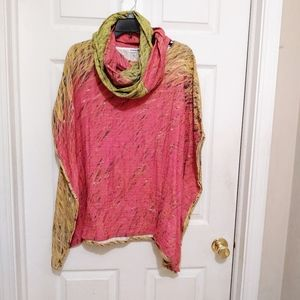 ✨1 of a Kind! Andrea Geer Poncho with scarf